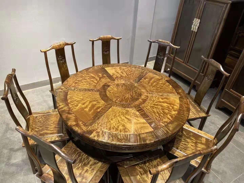 金絲楠烏木 圓餐桌