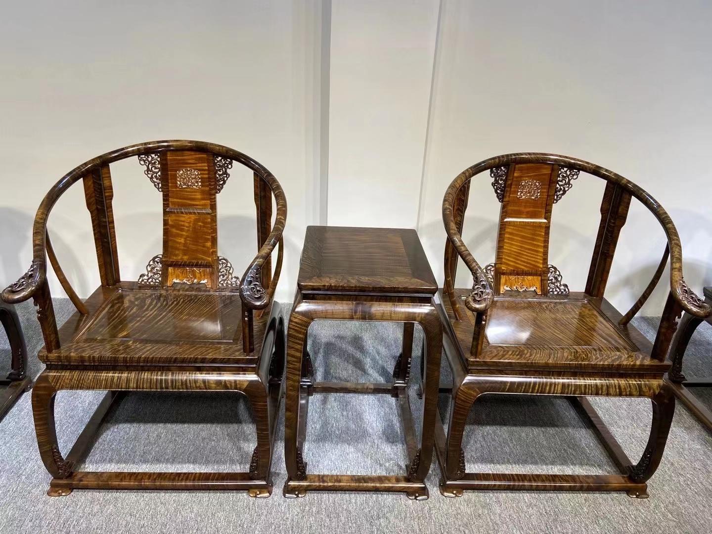 金絲楠烏木 皇宮椅三件套