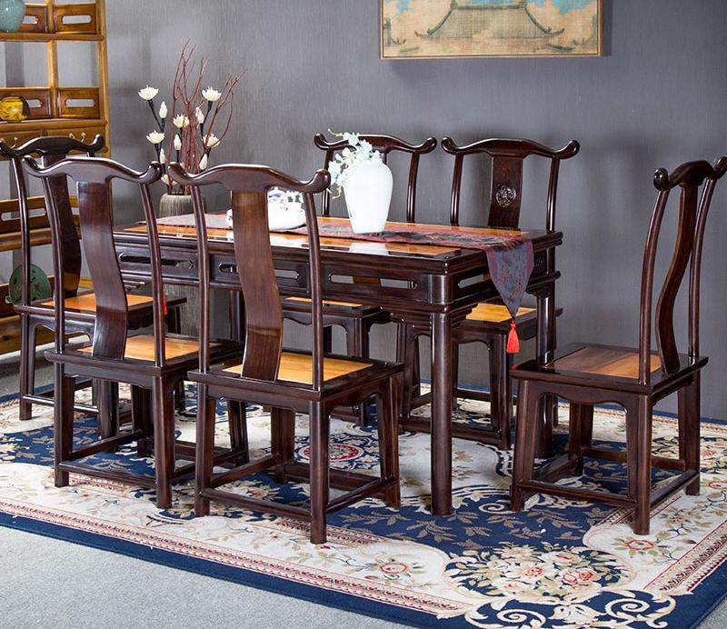 明式方餐桌七件套