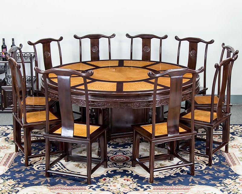鐵包金圓餐桌