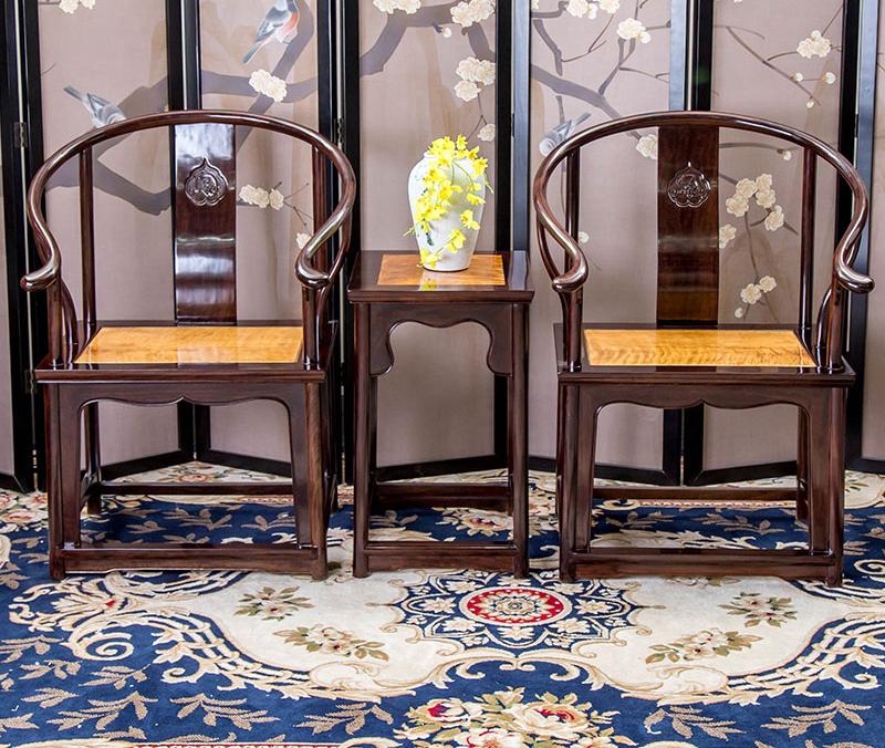 鐵包金圈椅三件套