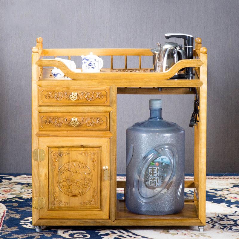 金絲楠 帶輪茶水柜