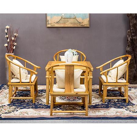 金絲楠 圈椅休閑桌五件套