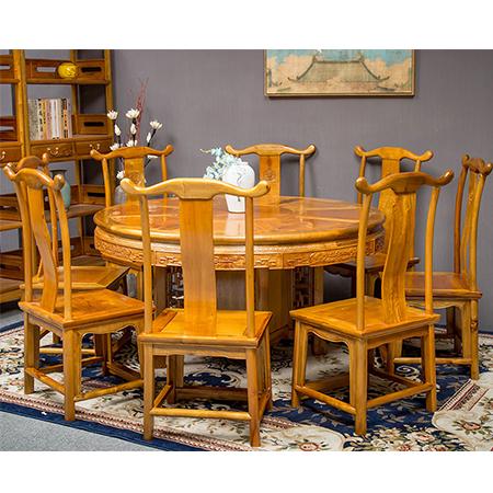 金絲楠 明式圓餐桌