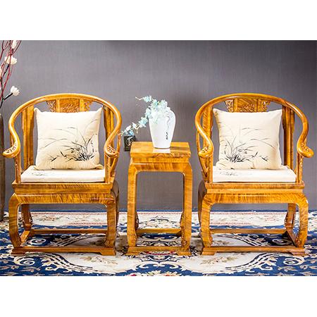 金絲楠 皇宮椅三件套