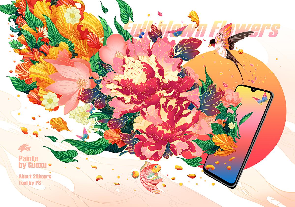 OPPO手机商业插画