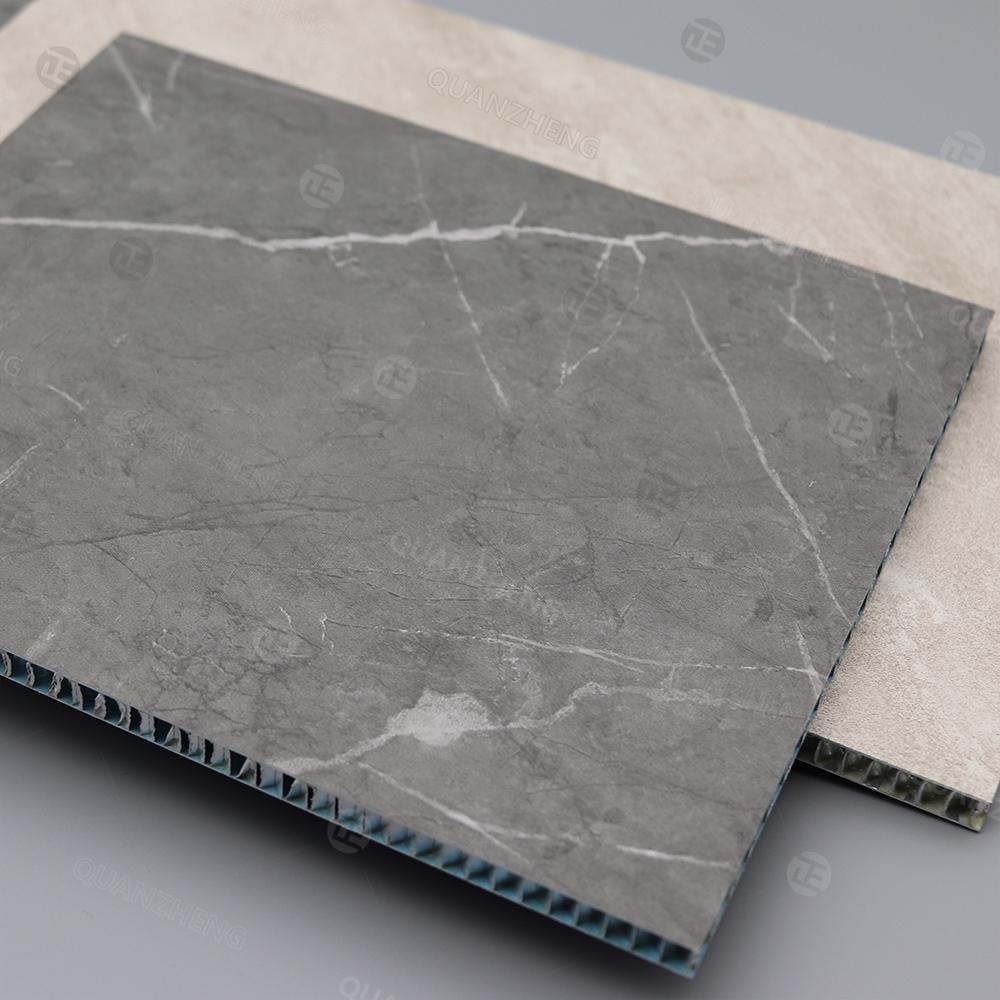 石纹系列铝蜂窝板吊顶板抗油污系列免洗大理石水泥艺术花纹凹凸感