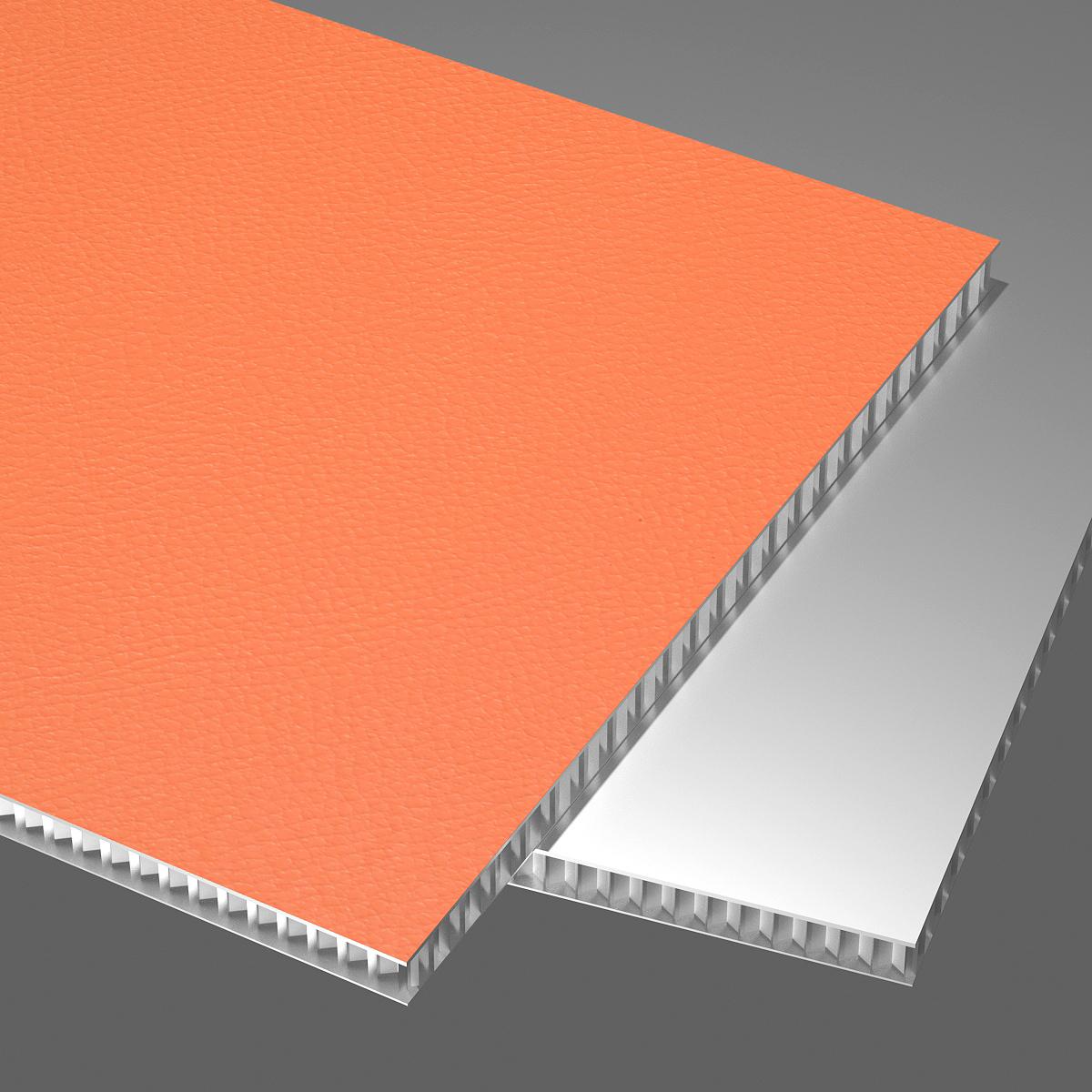 皮纹系列铝蜂窝板橙色荔枝纹抗油污耐擦洗防刮花手感好淡蓝色