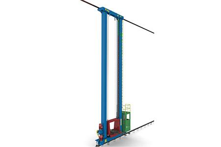 堆垛机是指用货叉或串杆攫取、文库  搬运和堆垛或从高层货架上存取单元货物的专用起重机。  它是一种仓储设备,分为桥式堆垛起重机和巷道式堆垛起重机(又称巷道式起重机)两种。