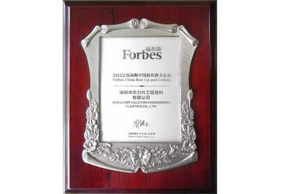 2012年-福布斯中國最佳潛力企業