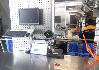 将NComputing云桌面方案部署在生产环境来收集所需数据;产线作业指导书的场景应用