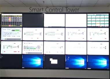 使用vSpace平台与企业的各类报表系统相结合,实时显示企业的各类看板数据