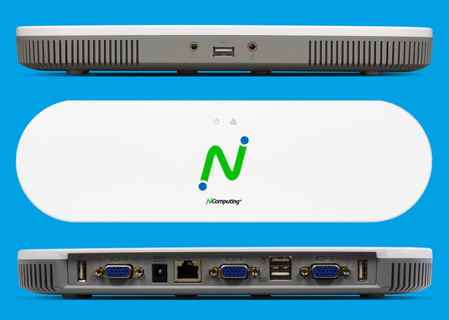 NComputing经济型 MX100D - 3用户桌面虚拟化瘦客户机套件