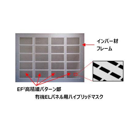 用于有机 EL 显示面板沉积的高清混合掩模 (FMM)