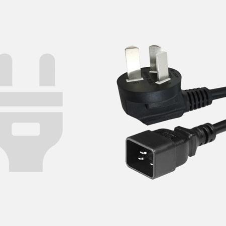 国标CCC16A三插带16A品字公座电C20电源线插头